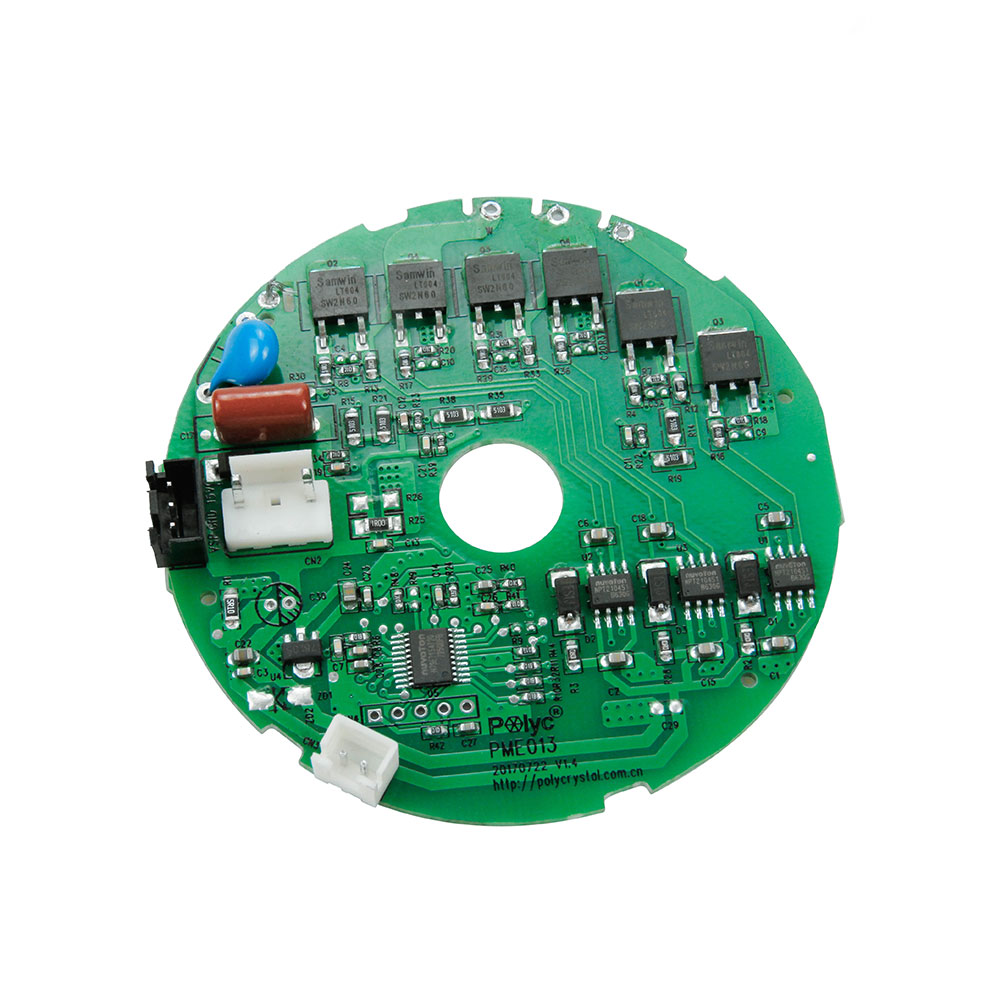 High voltage 3 phase brushless DC motor controllerv for high pressure fan